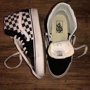 High-top Checkered Vans